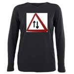 Two way Plus Size Long Sleeve Tee