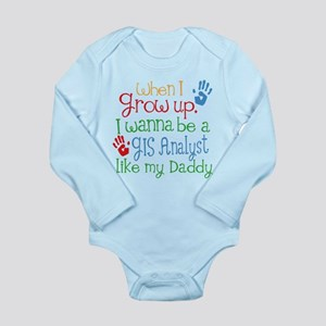 GIs Analyst Like Daddy Long Sleeve Infant Bodysuit