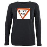 Give Way Plus Size Long Sleeve Tee