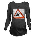 Horse Long Sleeve Maternity T-Shirt