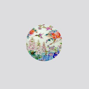 Hummingbird-Flower-landscape Mini Button