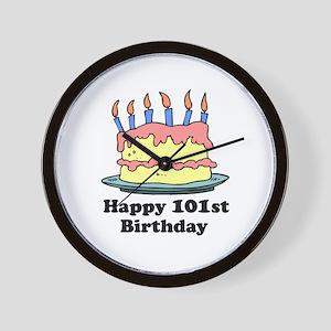 Happy 101st Birthday Wall Clock