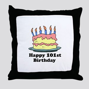 Happy 101st Birthday Throw Pillow