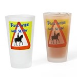 Pass wide and slow Drinking Glass