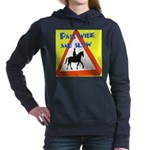 Pass wide and slow Women's Hooded Sweatshirt