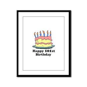 Happy 101st Birthday Framed Panel Print