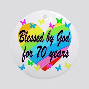 70TH BLESSING Round Ornament