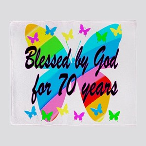 70TH BLESSING Throw Blanket