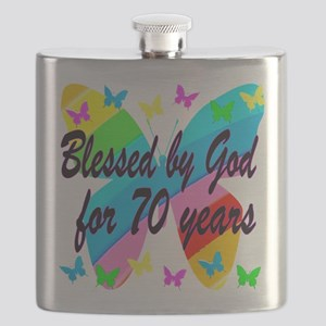 70TH BLESSING Flask