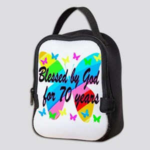 70TH BLESSING Neoprene Lunch Bag