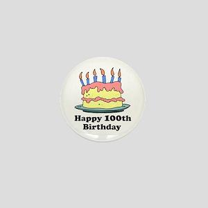 Happy 100th Birthday Mini Button