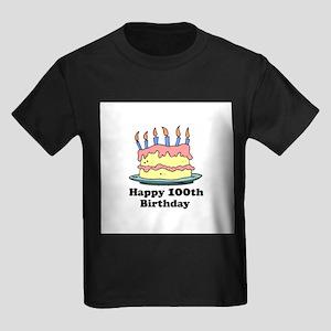 Happy 100th Birthday Kids Dark T-Shirt