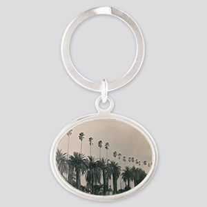 Black And White Palm Trees Keychains