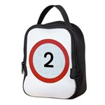 Speed sign - 2 Neoprene Lunch Bag
