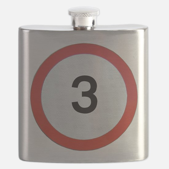 Speed sign 3 Flask