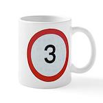 Speed sign 3 Mugs