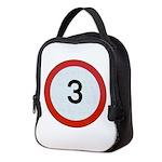 Speed sign 3 Neoprene Lunch Bag