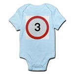 Speed sign 3 Body Suit