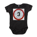Speed sign 3 Baby Bodysuit