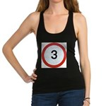 Speed sign 3 Racerback Tank Top