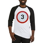 Speed sign 3 Baseball Jersey