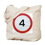 Speed sign 4 Tote Bag