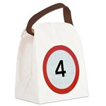 Speed sign 4 Canvas Lunch Bag