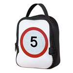 Speed sign 5 Neoprene Lunch Bag