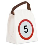 Speed sign 5 Canvas Lunch Bag