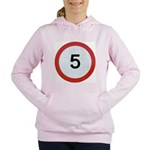 Speed sign 5 Women's Hooded Sweatshirt
