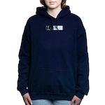 Green arrow - Up! Women's Hooded Sweatshirt