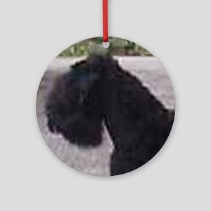 black russian terrier Round Ornament