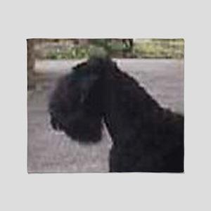 black russian terrier Throw Blanket