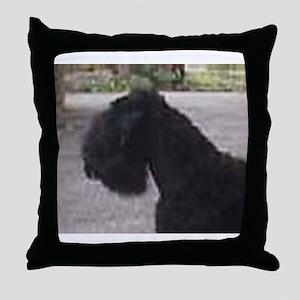 black russian terrier Throw Pillow
