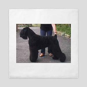 black russian terrier full Queen Duvet