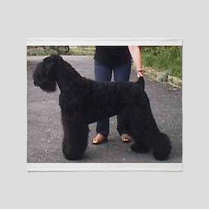 black russian terrier full Throw Blanket