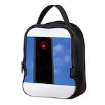 Red traffic light Neoprene Lunch Bag