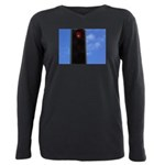 Red traffic light Plus Size Long Sleeve Tee