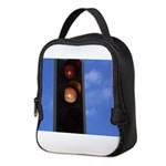 Red and amber traffic light Neoprene Lunch Bag