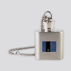 Green traffic light Flask Necklace
