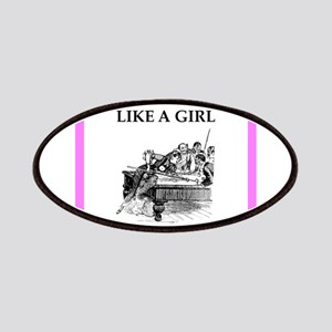 play ike a girl Patch