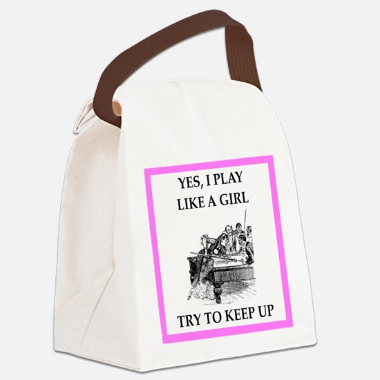 play ike a girl Canvas Lunch Bag