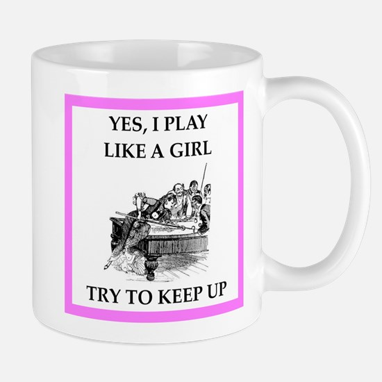 play ike a girl Mugs