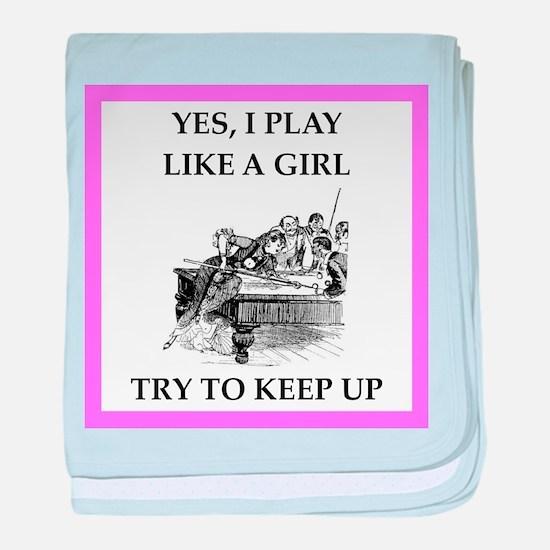 play ike a girl baby blanket