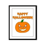 Halloween Pumpkin Framed Panel Print