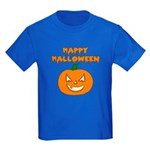 Halloween Pumpkin Kids Dark T-Shirt