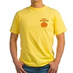 Halloween Pumpkin Yellow T-Shirt