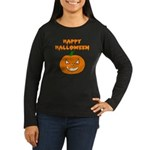 Halloween Pumpkin Women's Long Sleeve Dark T-Shir