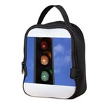 Red, amber and green Neoprene Lunch Bag