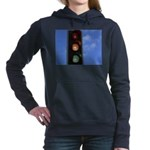Red, amber and green Women's Hooded Sweatshirt